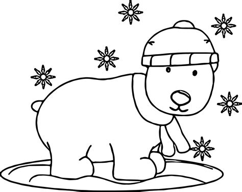 snow bear coloring page bear snow coloring page wecoloringpage