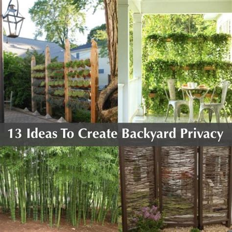 Creating Privacy In Small Backyard by 13 Attractive Ways To Add Privacy To Your Backyard Http