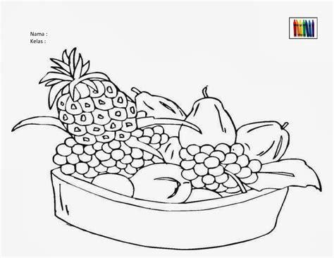 sekitar dunia anak worksheet bertema buah