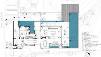 floor plan architecture modern plan modern house