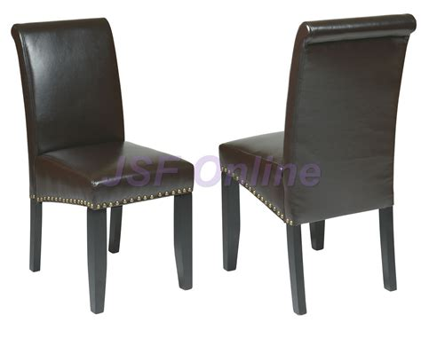 Leather Dining Chairs With Nail Heads Met87es Both