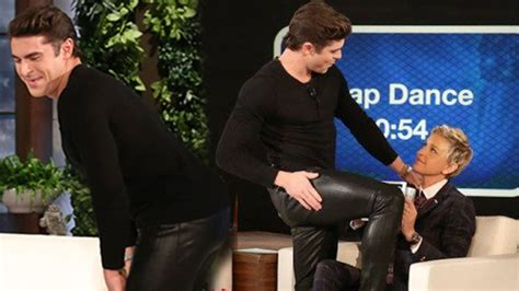 ellen degeneres zac efron zac efron twerks on ellen degeneres in tight pants youtube