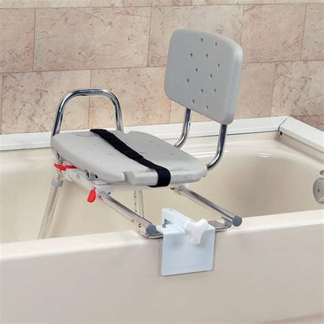 bath transfer bench with swivel seat snap n save plastic heavy duty sliding transfer bench with