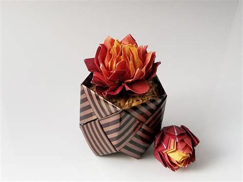 Origami Flower Pot - 42 beautiful origami flowers that look almost like the