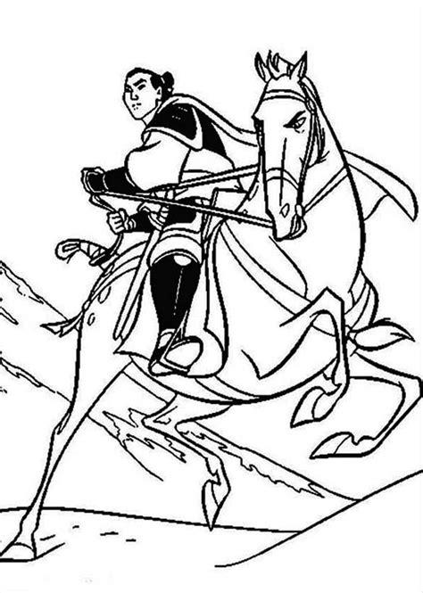 li shang   horse khan coloring page
