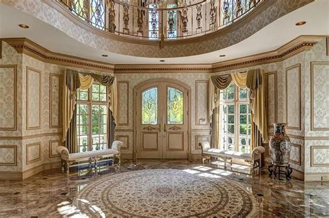 Dining Room Chair Rail Ideas by Art Deco Entryway With Complex Marble Floors Amp Balcony
