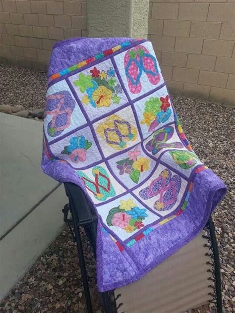 flip flop comforter flip flop quilt made for a friend by kimmy baker