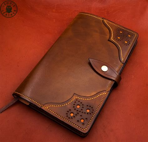 leather moleskine and midori notebook covers