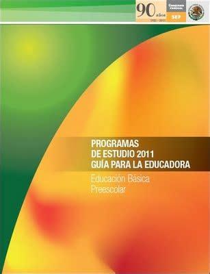 programa de estudios 2011 primaria sexto grado pdfs programa de estudio 2011 gu 237 a para la educadora