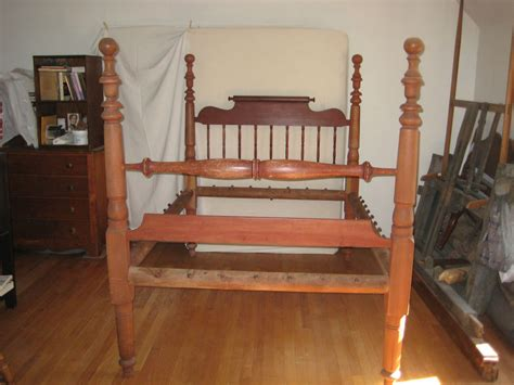 antique rope bed antique circa 1860 tall post rope bed in old red paint 67