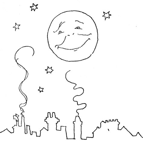 moon and stars coloring coloring pages