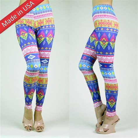 neon pattern tights pastel neon aztec pattern pop tribal print vivid color
