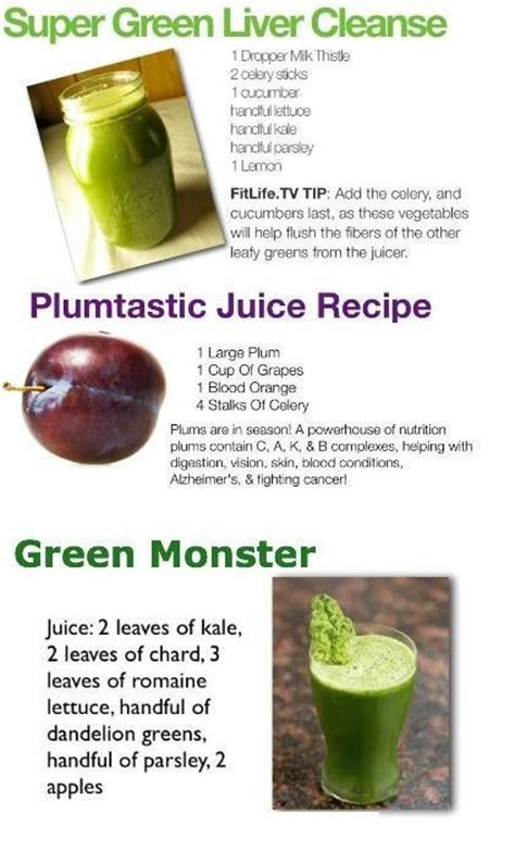 Liver Detox Vegetable Juice Recipes by Green Liver Cleanse Remedies