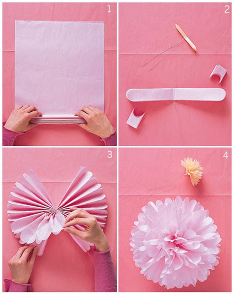 How To Make A Paper Pom Pom - how to make tissue pom poms friskstyle friskstyle