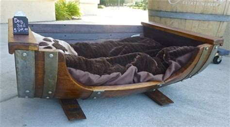 Wine Barrel Bed by Rewined Designs Oak Barrel Bed With Cushion Wine Furniture