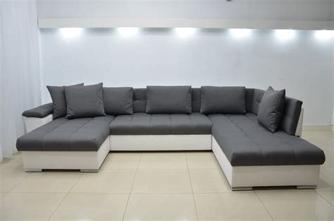eric left facing corner sofa bed eco leather