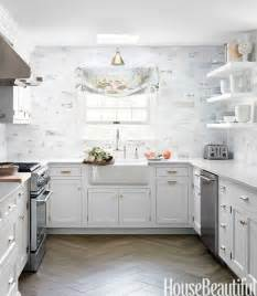 Pretty Kitchens With White Cabinets Beautiful White And Gray Kitchen The Inspired Room