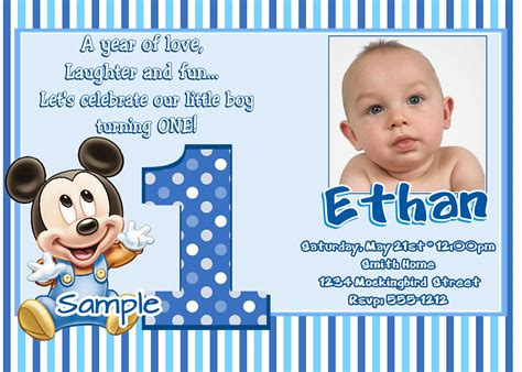 1st Birthday Invitations Boy Templates baby boy 1st birthday invitation templates