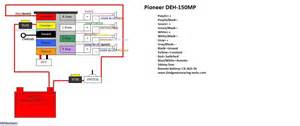 wire diagram for the pioneer deh 150mp and 2000 dodge neon