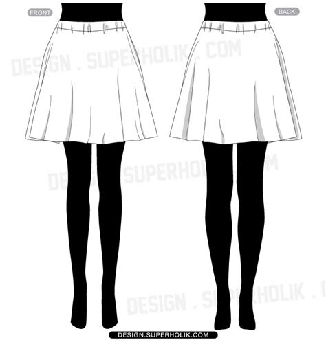 skirt template fashion design templates vector illustrations and clip
