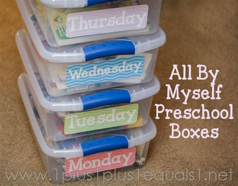 box ideas for preschoolers all by myself preschool boxes