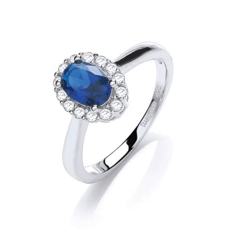 swarovski zirconia blue oval silver ring by david deyong