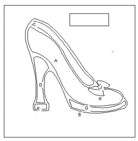 high heel shoe template craft 20 best images about shoe sillouette clip on