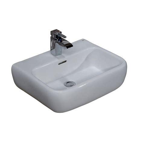 barclay products metropolitan 600 wall hung bathroom sink