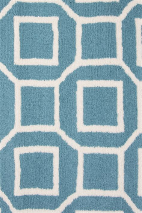 7 X 9 Area Rugs Glendale Geometric Squares Pattern Area Rug In Blue Ivory 6 7 Quot X 9 6 Quot