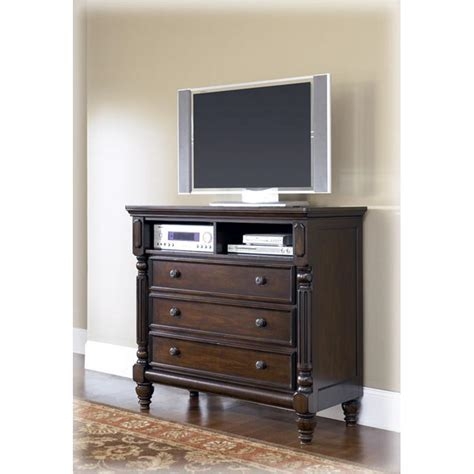 furniture harper media chest chest in bedroom bedroom b668 39 ashley furniture key town bedroom media chest