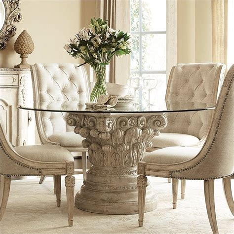 American Drew Jessica Mcclintock The Boutique Round Glass Mcclintock Dining Room Furniture