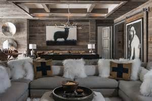 Mountain Home Interiors ski in ski out chalet in montana with rustic modern