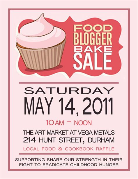 How To Make A Bake Sale Flyer how to make a bake sale flyer 13 best posters images on