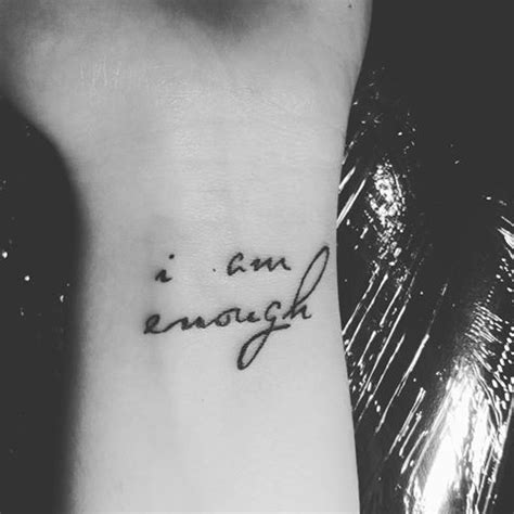 i am enough tattoo 25 best ideas about enough on wrist