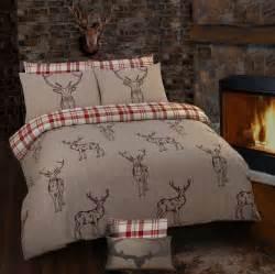 Trendy Shower Curtains Stag Rein Deer Tartan Check Reversible Themed Design