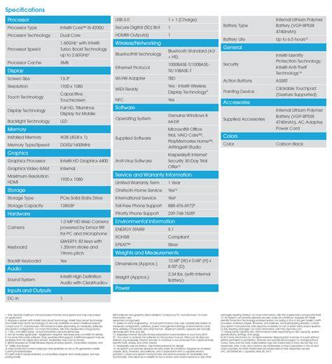Sony Vaio Pro Svp 13213 sony vaio pro svp13213cxb 13 3 inch i5 touchscreen