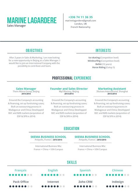 Good Resume Coherent Resume 183 Mycvfactory Designing Coherent Template