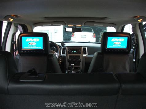 autotain car headrest dvd monitor install customer photo in 2009 jeep grand onfair