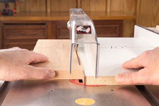 safely rip thin strips table  cutting