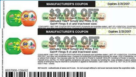 printable gain coupons hot tide pods or gain flings 3 1 printable coupon