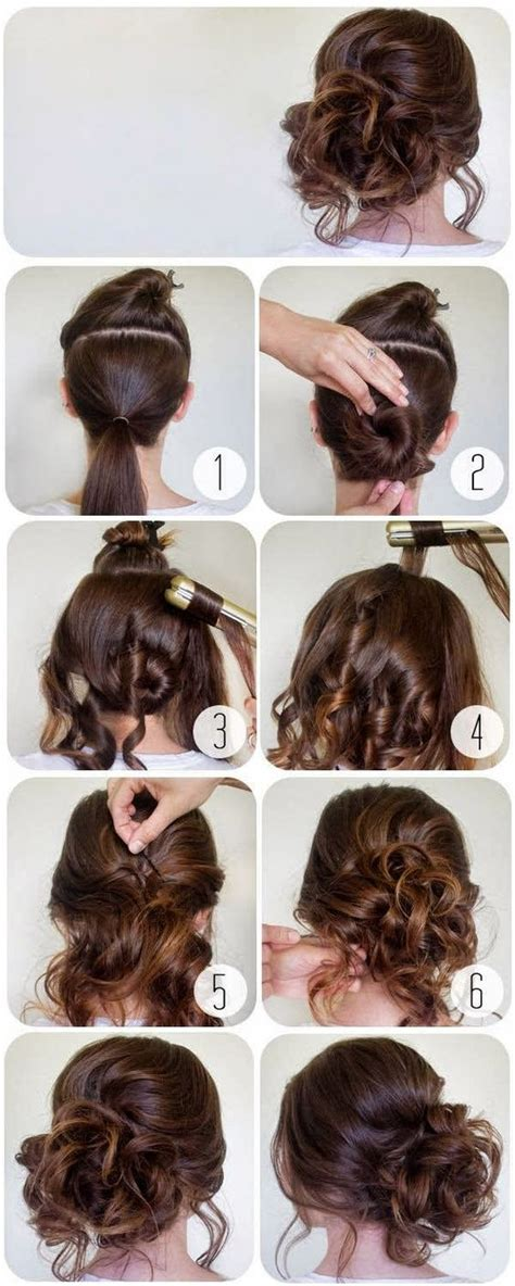 curly hair updos step by step curly bun straight hair and buns on pinterest