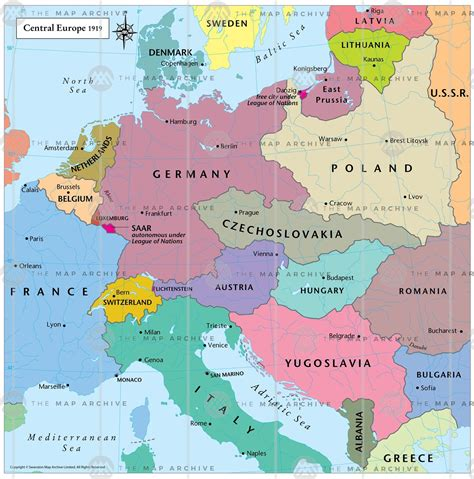 central europe map central europe 1919