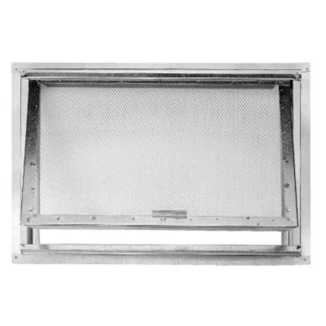 construction metals 24 in x 18 in crawl hole access door galvanized with screen chads the