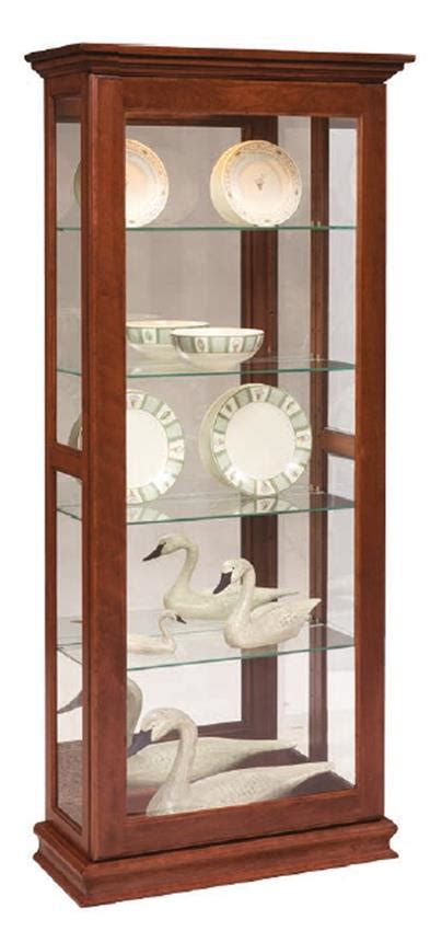 Sliding Door Curio Cabinet Sliding Door Picture Frame Curio Cabinet From Dutchcrafters Amish