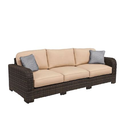 northshore sofa brown jordan northshore patio sofa with harvest cushions