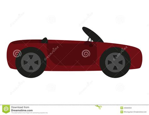 cartoon sports car black and white cartoon car isolated on white background stock vector