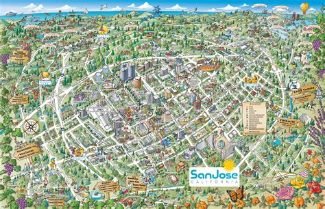 san jose tourist map maps update 1300989 tourist attractions map in