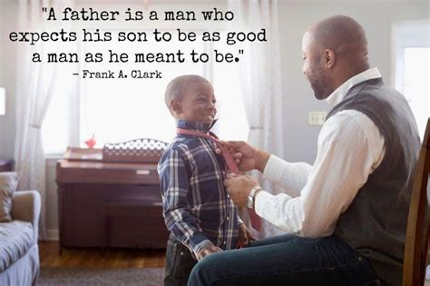 dad encourages son to be a man while getting shots a father is a man who expects his son to be as good a man
