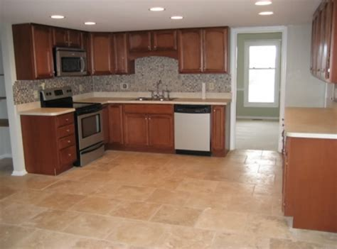 tiled kitchen floors ideas rubber tile flooring kitchen design information about