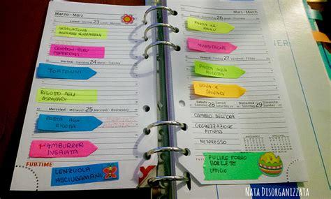agenda di casa nata disorganizzata il setup della agenda